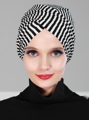 Black - Simple -  - Combed Cotton - Bonnet