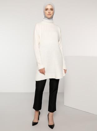 Bone - Polo neck - Acrylic -  - Wool Blend - Jumper - Tavin