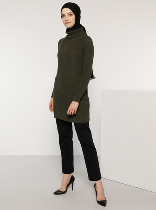 Khaki - Polo neck - Acrylic -  -  - Jumper