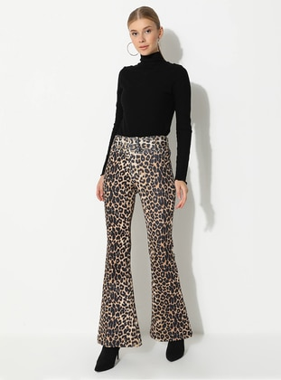 Leopard - Black - Multi - Pants