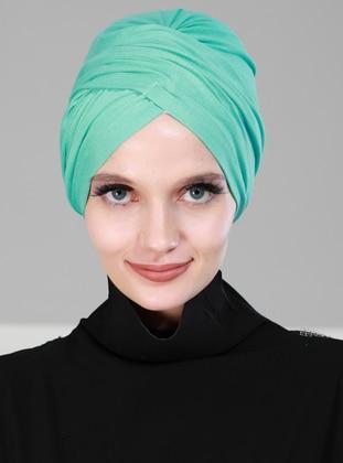 Turquoise - Simple -  - Combed Cotton - Bonnet