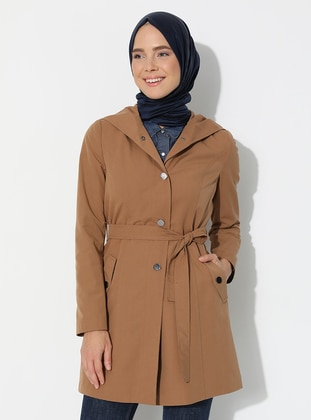 Camel - Fully Lined -  - Trench Coat