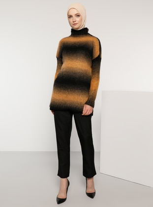 Mustard - Polo neck - Acrylic -  - Wool Blend - Jumper - Tavin