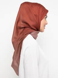 Tan - Plain -  - Scarf