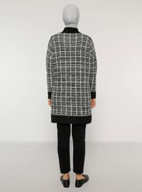 Black - Polo neck - Unlined - Knit Tunics