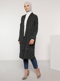 Navy Blue -  - Wool Blend - Cardigan
