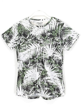 Multi - Crew neck - White - Boys` T-Shirt