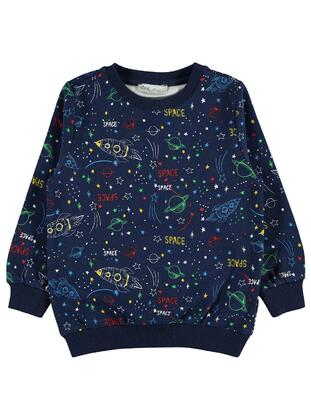 Navy Blue - Boys` Sweatshirt - Civil
