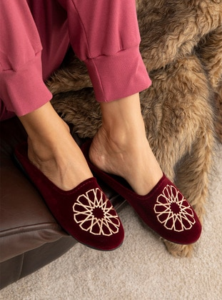 Multi - Sandal - Maroon - Home Shoes