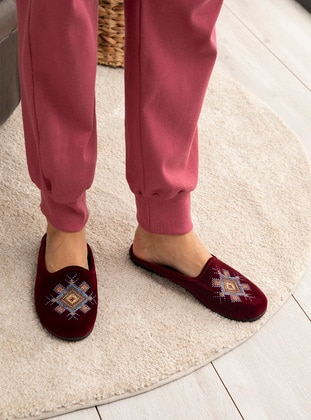 Multi - Sandal - Maroon - Home Shoes