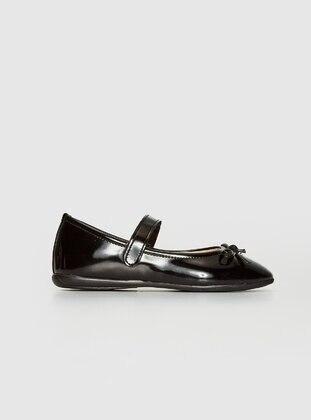 Black - Girls` Flat Shoes