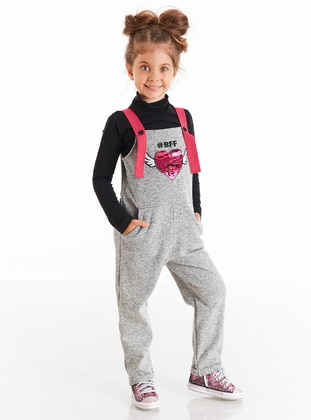 Gray - Girls` Salopettes & Jumpsuits