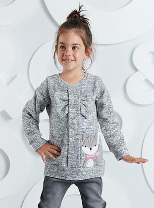 Gray - Girls` Pullovers - Mushi