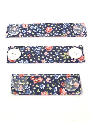 Floral - Navy Blue - Mask Attachment