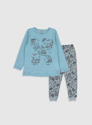 Blue - Girls` Pyjamas - LC WAIKIKI