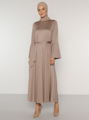 Mink - Crew neck - Unlined - Dress