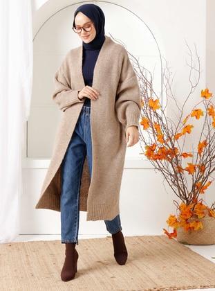 Mink - Acrylic -  - Knit Cardigans - İnşirah