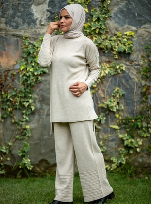 Stone - Acrylic - - Knit Suits