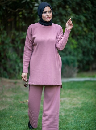 Dusty Rose - Acrylic - - Knit Suits