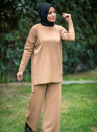 Camel - Acrylic - - Knit Suits