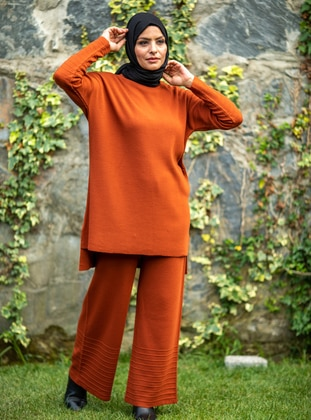 Terra Cotta - Acrylic - - Knit Suits