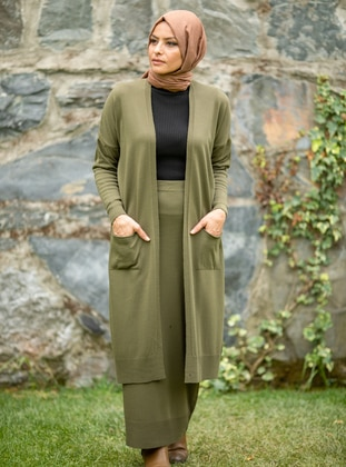 Khaki - Acrylic - - Knit Suits