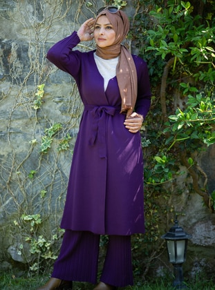 Purple - Acrylic -  - Knit Suits