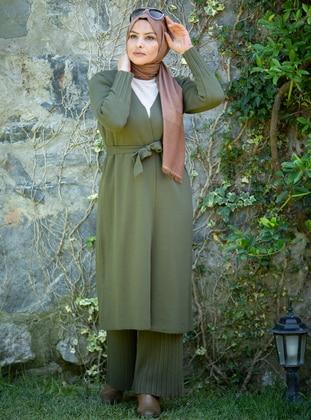 Khaki - Acrylic -  - Knit Suits