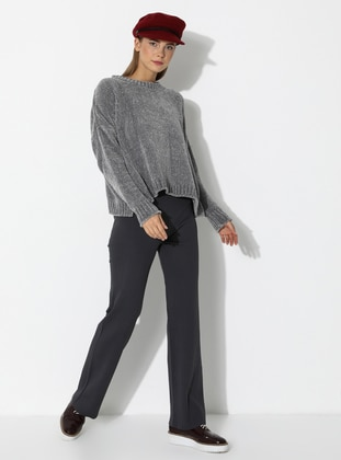 Anthracite - Acrylic -  - Knit Pants - Nare