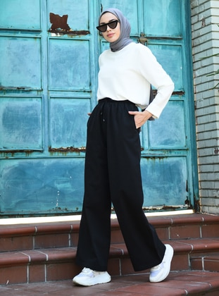 Black -  - Unlined - Maternity Pants