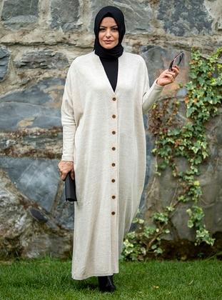 Stone - Multi - Plus Size Cardigans - MODANUR