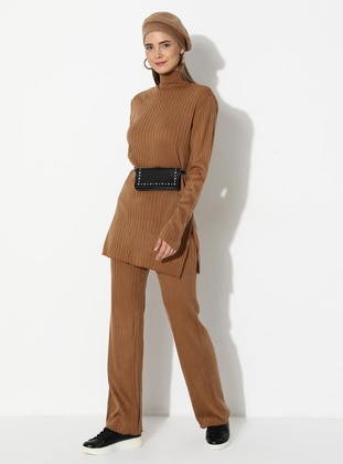 Camel - Unlined - Suit - Nare