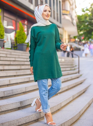 - Crew neck - Emerald - Sweat-shirt