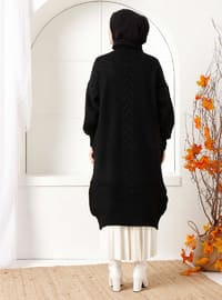 Black - Acrylic - - Knit Cardigans