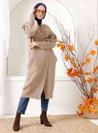 Mink - Acrylic - - Knit Cardigans