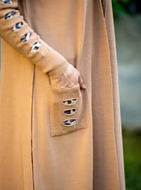Camel - Acrylic - - Knit Cardigans