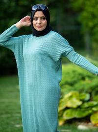 Mint - Crew neck - Acrylic -  - Knit Dresses