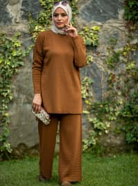 Tan - Acrylic -  - Knit Suits