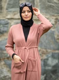 Dusty Rose - Acrylic -  - Knit Cardigans