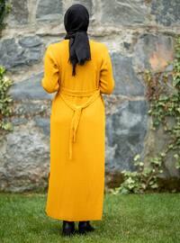 Mustard - Acrylic -  - Knit Cardigans