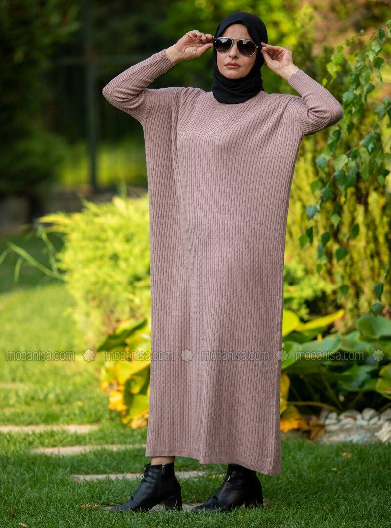 Powder - Crew neck - Acrylic - - Knit Dresses