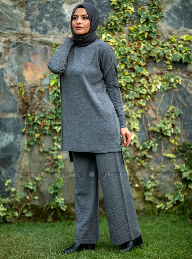 Anthracite - Acrylic -  - Knit Suits