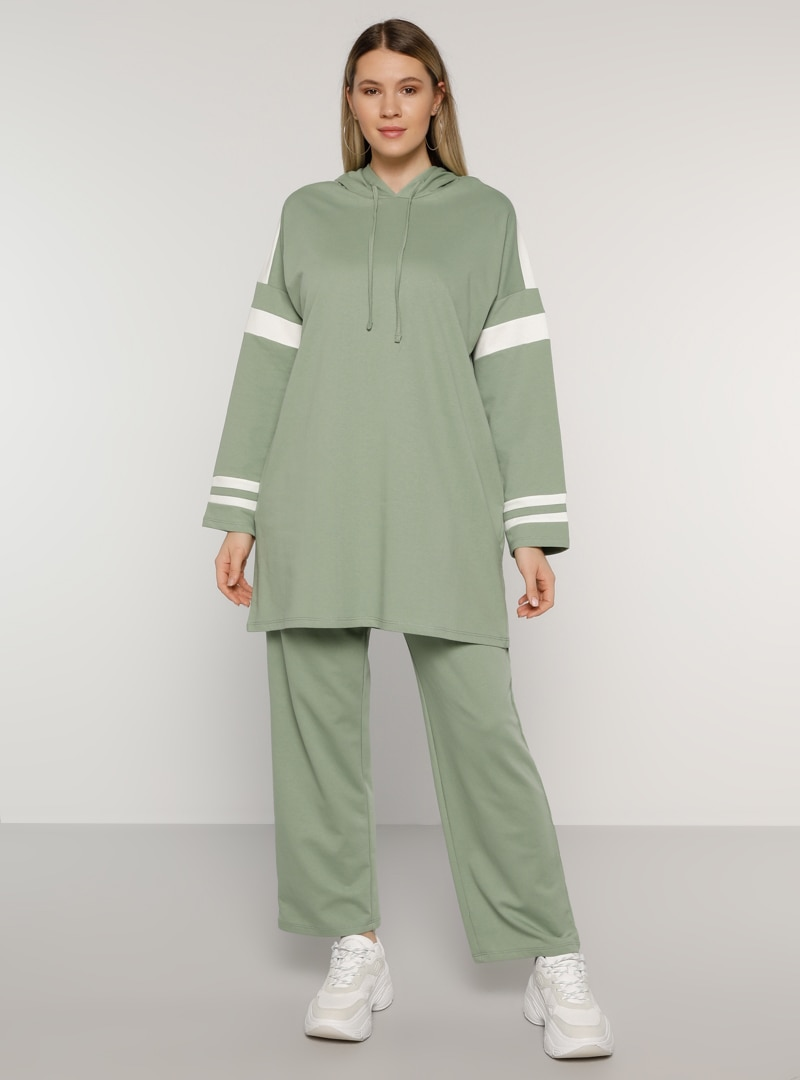 Plus Size Tracksuit Sets Alia Olive Green / Green