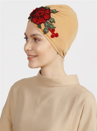 Mustard - Red - Plain - Simple - Bonnet