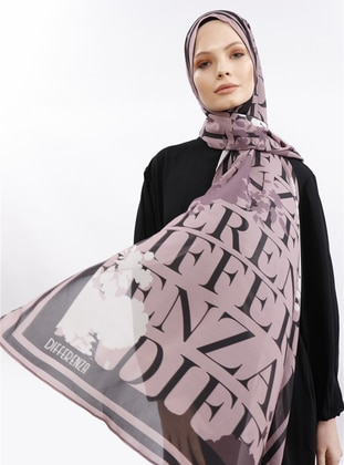 Powder - Black - Printed - Shawl