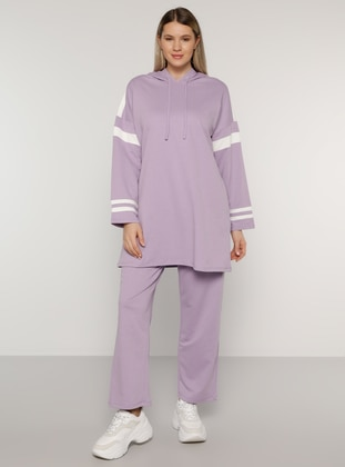 White - Ecru - Lilac - Unlined -  - Plus Size Suit