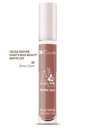 Cecile Nature Goat Milk Beauty Matte Lips Lipstick - Multicolor - CECILE