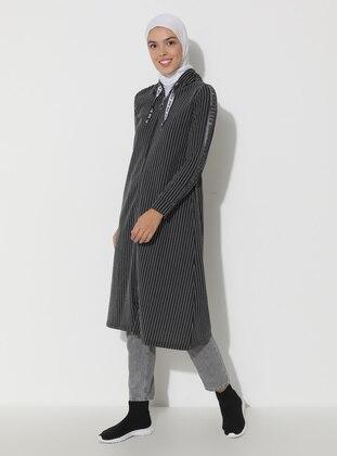 Smoke - Stripe - Unlined - Topcoat
