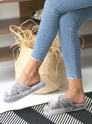 Sandal - Gray - Home Shoes
