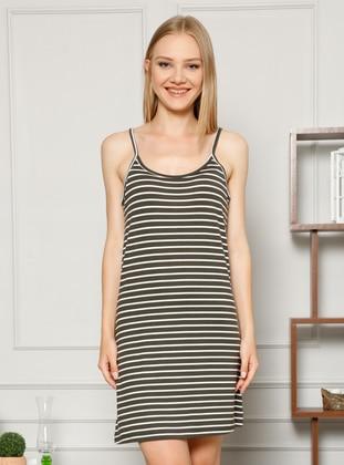 Anthracite - Stripe -  - Nightdress